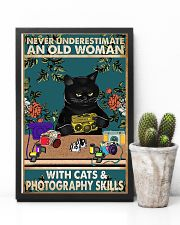 Old Woman With Photography Skills Photographer 11x17 Poster lifestyle-poster-8