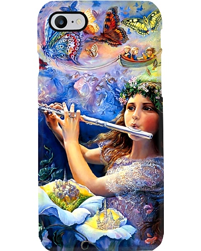 Beautiful Girl With Flute