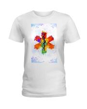 Paramedic Colorful Star of Life Logo Ladies T-Shirt thumbnail