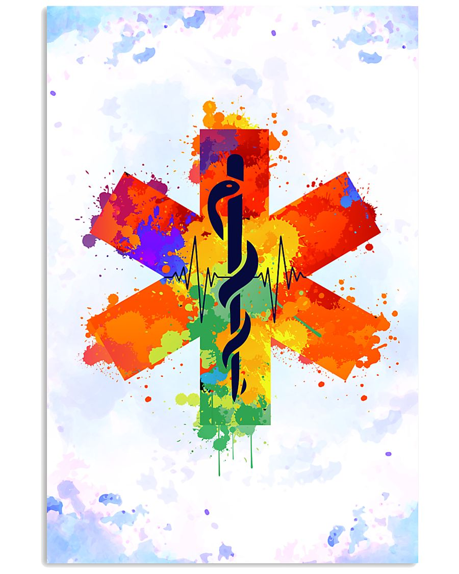 Paramedic Colorful Star of Life Logo 11x17 Poster