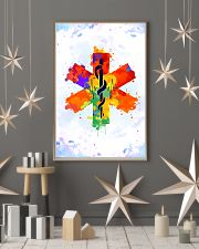Paramedic Colorful Star of Life Logo 11x17 Poster lifestyle-holiday-poster-1
