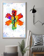 Paramedic Colorful Star of Life Logo 11x17 Poster lifestyle-poster-1