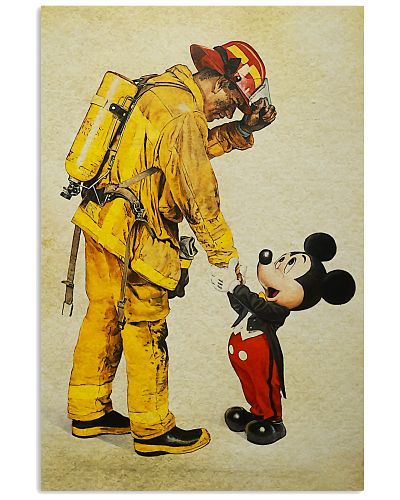 Firefighter And Mic Mouse