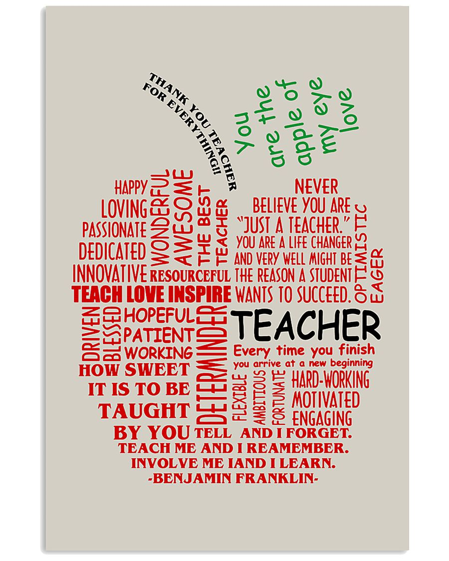 Teacher You Are The Apple Of My Eye 11x17 Poster