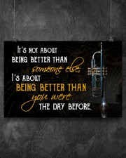 Trumpet Better Than You Were 17x11 Poster aos-poster-landscape-17x11-lifestyle-12