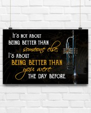 Trumpet Better Than You Were 17x11 Poster aos-poster-landscape-17x11-lifestyle-17