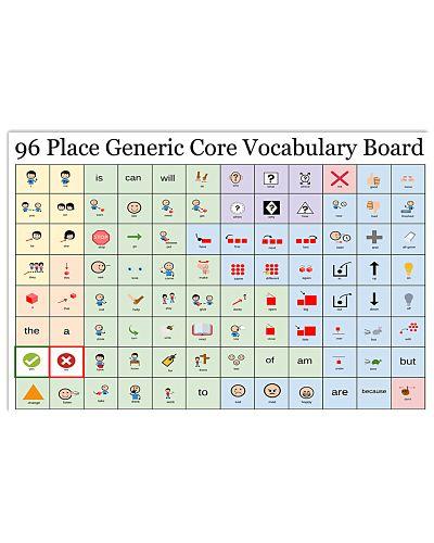 SLP 96 Place Generic Core Vocabulary Board