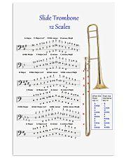 Trombonist slide trombone 12 scales poster 11x17 Poster front