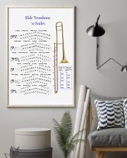 Trombonist slide trombone 12 scales poster 11x17 Poster lifestyle-poster-1