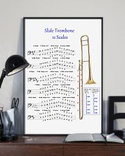 Trombonist slide trombone 12 scales poster 11x17 Poster lifestyle-poster-2