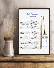 Trombonist slide trombone 12 scales poster 11x17 Poster lifestyle-poster-3