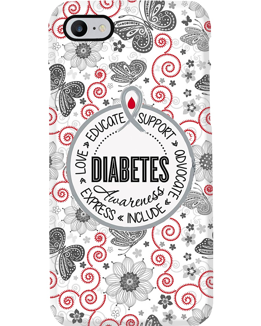 Diabetes Awareness Wording Phone Case