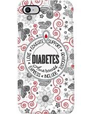 Diabetes Awareness Wording Phone Case i-phone-8-case