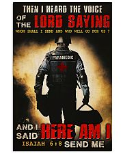 Paramedic I Heard The Voice Of The Lord Saying 11x17 Poster front