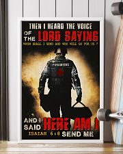 Paramedic I Heard The Voice Of The Lord Saying 11x17 Poster lifestyle-poster-4
