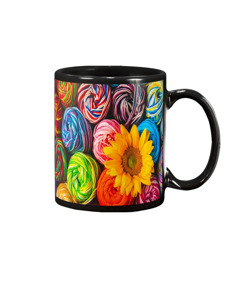 Crochet and knitting Sunflower  Mug