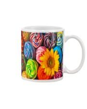 Crochet and knitting Sunflower  Mug tile