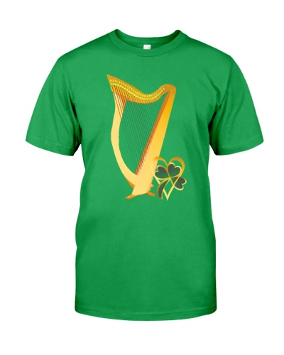 Harp Gold Heart Shamrock