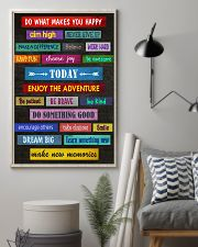 Social Worker Do what makes you happy 11x17 Poster lifestyle-poster-1