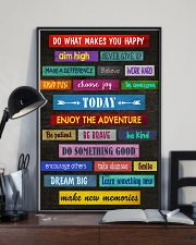Social Worker Do what makes you happy 11x17 Poster lifestyle-poster-2