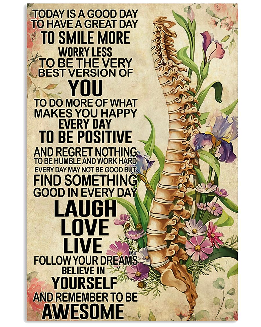 Chiropractic Today is a good day 11x17 Poster