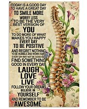 Chiropractic Today is a good day 11x17 Poster front