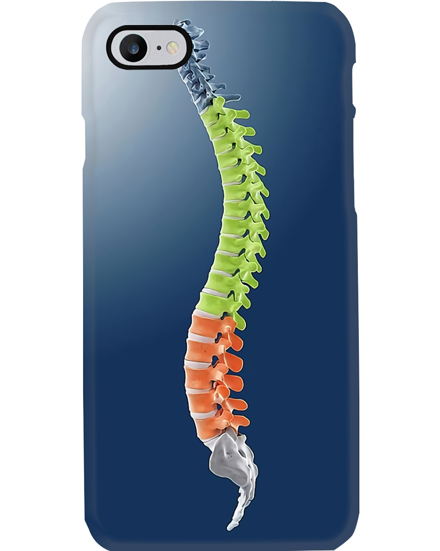Chiropractor colorful spine Phone Case