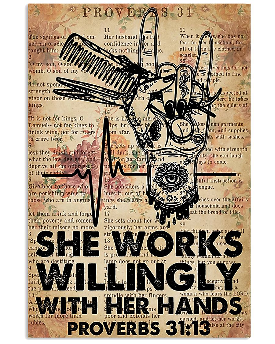 Hairdresser She Works Willingly With Her Hands 11x17 Poster
