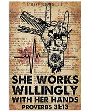 Hairdresser She Works Willingly With Her Hands 11x17 Poster front
