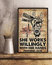 Hairdresser She Works Willingly With Her Hands 11x17 Poster lifestyle-poster-3