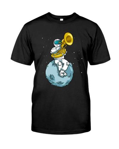 Astronaut Playing Tuba