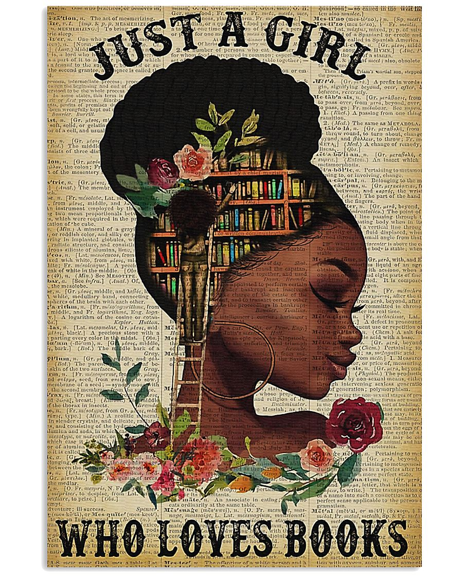 Librarian Just a girl who loves books 11x17 Poster