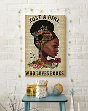 Librarian Just a girl who loves books 11x17 Poster lifestyle-holiday-poster-3