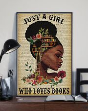 Librarian Just a girl who loves books 11x17 Poster lifestyle-poster-2