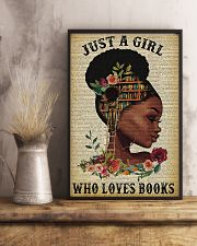 Librarian Just a girl who loves books 11x17 Poster lifestyle-poster-3