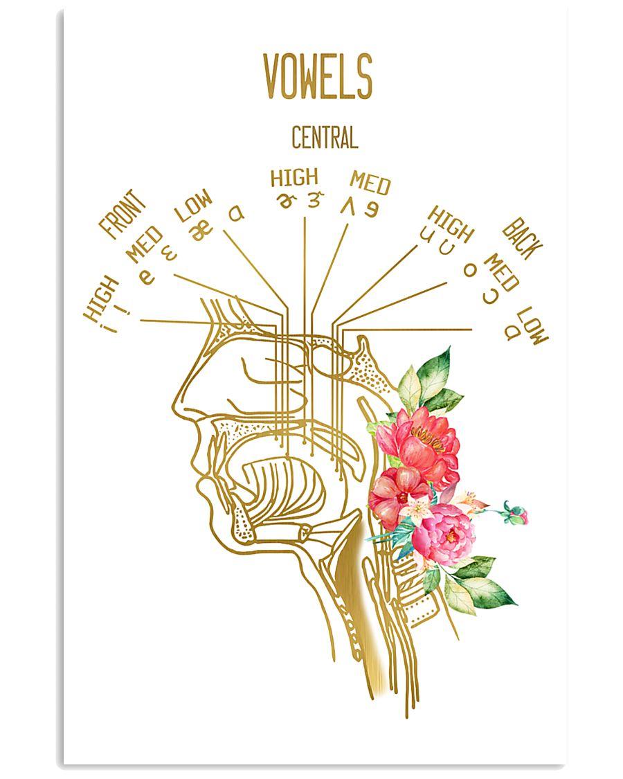 SLP Vowels Points Of Articulation 11x17 Poster