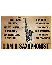 I am a saxophonist - I am strong 17x11 Poster front