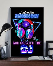 God Created The DJ 11x17 Poster lifestyle-poster-2