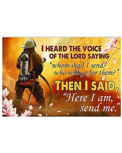 Firefighter I Love The Voice Of The Lord Saying