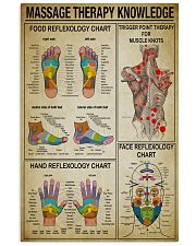 Massage Therapy knowledge 11x17 Poster front
