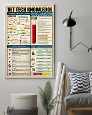 Veterinary tech knowledge 11x17 Poster lifestyle-poster-1