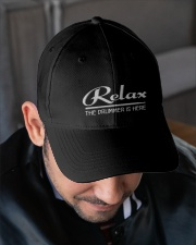 Relax the Drummer is here Embroidered Hat garment-embroidery-hat-lifestyle-02