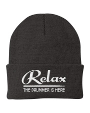 Relax the Drummer is here Knit Beanie tile