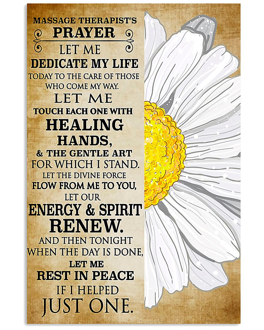 Massage Therapist's Prayer 11x17 Poster