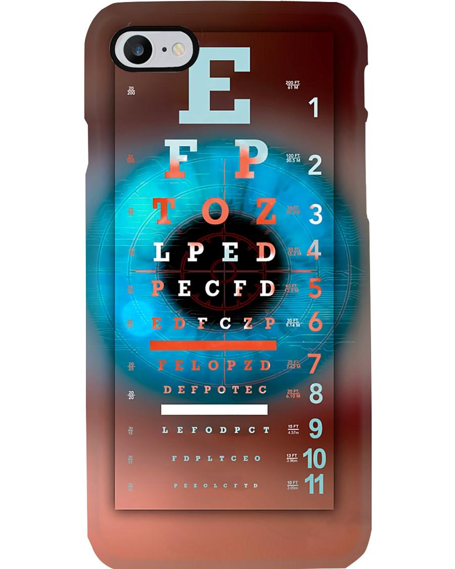Optometrist Eye Chart With Eye Phone Case