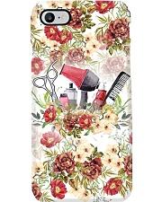 Hairdresser Vintage Flowery Tools Phone Case i-phone-7-case