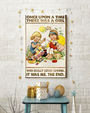 Sewing Two Cute Girls 11x17 Poster lifestyle-holiday-poster-3