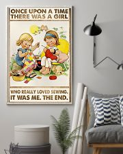 Sewing Two Cute Girls 11x17 Poster lifestyle-poster-1