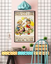 Sewing Two Cute Girls 11x17 Poster lifestyle-poster-6
