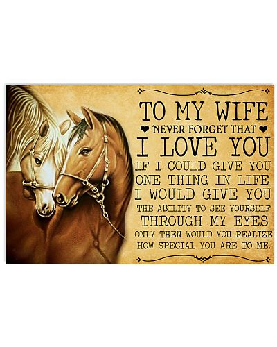 Horse Girl Horse To my wife